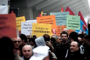 Protest gegen Preis fur Erdogan