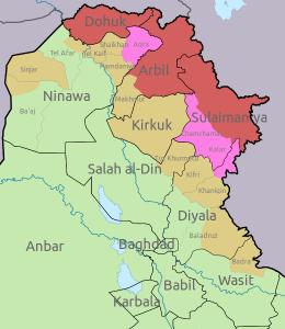 südkurdistan-iraq map
